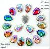 Los colores del Ab de la piedra del vidrio cristalino de la gota del recorte del diamante cosen en el Rhinestone (Interruptor-Gota 10*14 el ab)