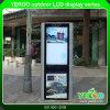 Pantalla táctil al aire libre del LCD que hace publicidad de la visualización con la red