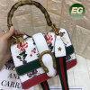 Borsa di cuoio dell'unità di elaborazione della più nuova signora all'ingrosso Embroidery Tote Shoudler Bag del progettista per le donne Sy8409