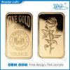 Lingotto fine puro della barra di oro dell'indennità di grammo 999 delle barre di oro della novità della lega dell'aquila decorativa unica del laser 50