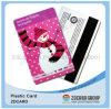 Scheda del regalo del PVC con il codice a barre/scheda di plastica della banda magnetica