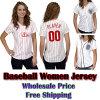 De Overhemden Jersey van het Honkbal van vrouwen (wm-BS-5748)