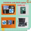 VASO 5054A con la viruta de Oki con la computadora portátil instalada software experto D630 del modo de Odis V6.22 para el soporte Bluetooth de los Multi-Lenguajes de DELL