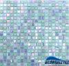 A telha decorativa por atacado Backsplash do mosaico na mistura azul colore Gco048mg