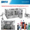 Carbonatadas de llenado Lavado Bebida tapado 3-en-1 máquina