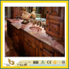 Stone naturale Polished Coral Red Marble Countertop per Kitchen/Bathroom (YQC)
