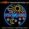 Ouvrir 24hours Real Glass Neon Sign