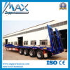4개의 차축 80tons Hydraulic Low Bed Semi Truck Trailer