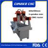 小型彫版の切断CNCのルーターを働かせるアルミニウム石造り木