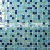 Melt смешивания 15X15mm плитка мозаики голубого горячего стеклянная (BGC002)