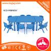 Il più nuovo disegno scherza la Tabella pranzante di plastica della mobilia semirotonda