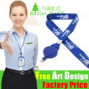 Retractable Plastic Badge Reel를 가진 주문 Promotional Polyester Lanyard