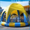 Piscina inflable material del PVC con la tienda para la natación