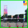 Bandera de tierra al aire libre de la bandera que hace publicidad de la exhibición