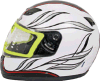 Las piezas de la motocicleta imprimieron el casco blanco