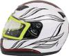 Части мотоцикла напечатали белый шлем