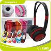 Auricular estéreo modificado para requisitos particulares negro del receptor de cabeza de los niños