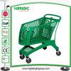 Carrello di acquisto di plastica per il grandi supermercato e viale