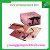 Rectángulo de empaquetado de papel del color de rosa del Bowknot de la cinta