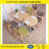 木の食事のレストランのコーヒー木のチェアーテーブル