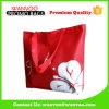 Drucken-rotes Basisrecheneinheits-Muster, das nicht gesponnene Einkaufstasche faltet