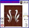 二重葉PVCガラス木製のドア