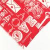 Ткань одежды хлопка полиэфира T/C способа красная для платья/рубашки/юбки/мешка/ботинок