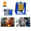 Acier fondant la machine de fonte de fréquence moyenne de chauffage par induction inclinant le four