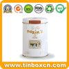 Metalltee-Kanister, Tee kann für das Metallverpacken der Lebensmittel, runder Tee-Zinn-Kasten
