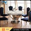 Tabella di marmo pranzante rotonda di marmo artificiale per il ristorante
