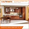 Module de cuisine en bois de noix classique linéaire de forme avec la porte en verre