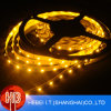 3528 tiras flexibles amarillas de la luz de SMD LED