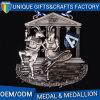 La timbratura personalizzata o la medaglia del metallo della pressofusione con la placcatura d'ottone antica