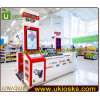 Sale (E10047)를 위한 유리제 Display Shoecase/Mobile Phone Display Kiosk Design