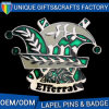 Pin promozionale del distintivo con la frizione d'imitazione della farfalla di doratura elettrolitica del diamante