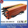 6000W gelijkstroom aan AC Pure Sine Wave Power Inverter met Charger