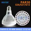 LEIDENE E26/E27/G12 PAR30 Lichte 40W Stralingshoek 15 Graad 25degree 40degree