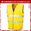 Maglia gialla fluorescente di sicurezza di alta visibilità della carreggiata (ELTHVVI-11)