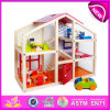 2015년 Kids를 위한 최신 New Product Toy Wooden Toy Doll House, New Style Hot Sale Wooden Doll House, DIY Child Wooden Doll House W06A098