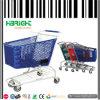 Carros de compras plásticos de tienda de comestibles del supermercado