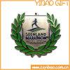 Дешевые изготовленный на заказ серебряная медаль/медальон металла для конкуренции (YB-m-021)