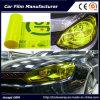 Il vinile autoadesivo della tinta dell'automobile della pellicola del faro dell'automobile di colore di colore giallo della fluorescina filma 30cmx9m