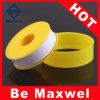 PTFEの糸のシールテープ、黄色いテフロンテープ、テフロン粘着テープ