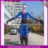 Шарж горячего раздувного характера супермена раздувной Moving с длинними ногами