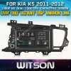 Witson voor GPS 1080P DSP Capactive Screen WiFi 3G Front DVR Camera van KIA K5 Car DVD