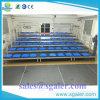 Durables de 4 hileras de aluminio de fila con Guardrail para eventos de interior y al aire libre
