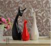 Família cerâmica dos cervos da decoração 3 da cerâmica do ofício Handmade creativo do presente do Natal