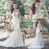 Платья венчания Y1013 без бретелек Mermaid мантий шнурка Bridal цветастые
