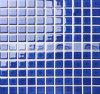Azulejo de mosaico esmaltado de cerámica cuadrado azul marino brillante (BCI610)