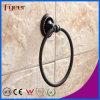 Anello di tovagliolo d'ottone delle installazioni nere della stanza da bagno di Fyeer